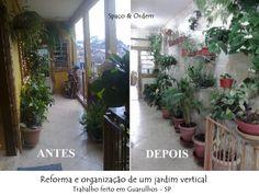Reforma e organização de um jardim vertical...Spaço & Ordem em ação