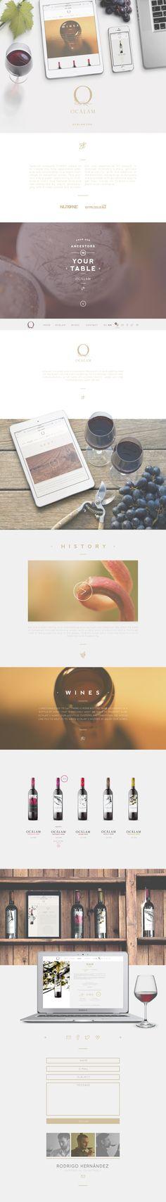 Spanish vineyard Ocalám website by nutone & binalogue