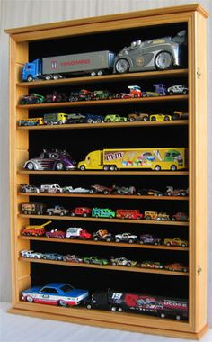 Large Hot Wheels Display Case Toy Display, Display Shelves, Display Case, Toddler Car Bed, Toddler Play Area, Kids Routine Chart, Shadow Box Picture Frames, Hot Wheels Display, Plastic Model Cars