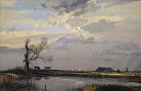Rowland Hilder - Saltings near Faversham 200