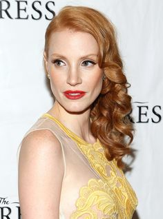 How to Get Jessica Chastain's Pin Curl Waves   Makeup.com