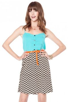 Shopsosie - Teal & Chevron dress - In stock on this site for anyone who wants to order it :0)