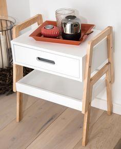 Amazon.de: bonVIVO® Designer-Beistelltisch KARL, als clevere Kombination mit Schublade und Tablett 54,90 Euro