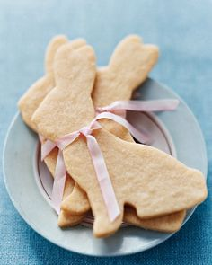 Lekkere koekjes in de vorm van een paashaas .