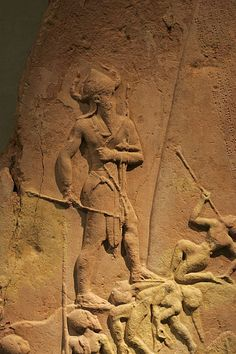 """Naram-Sin, reigned ca. 2254–2218 BCE, middle chronology, was the third successor and grandson of King Sargon of Akkad. Under Naram-Sin the Akkadian Empire reached its zenith. He was the first Mesopotamian king known to have claimed divinity for himself, and one of the first (following the earlier Lugal-Anne-Mundu) to be called """"King of the Four Quarters"""".  Source"""