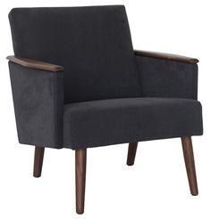 Melker Armchair - Italian Fabric - Matt Blatt