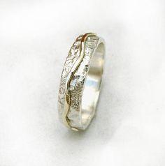 Mens wedding ring mens wedding band sterling silver by ilanamir
