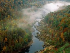 Devil's Jump Overlook, Big South Fork of the Cumberland River, Kentucky (HÙNG VĨ) Cumberland River, Full Hd Pictures, South Fork, On The Road Again, My Old Kentucky Home, Autumn Forest, Forest River, Beautiful Landscapes, Day Trips