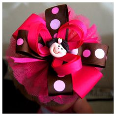 Doll002 Big Ribbon  Ganchon Muñeca 002