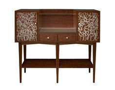 Buy Abstract Bar by Lang Hall - Made-to-Order designer Furniture from Dering Hall's collection of Contemporary Transitional Art Deco Bar Cabinets.