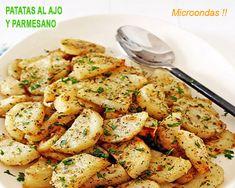 patatas al ajo y perejil en microondas