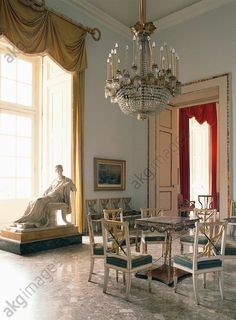 AKG-imágenes -View of the Napoleonic room (19th century), Palace of Capodimonte (18th century), Naples, Campania, Italy.