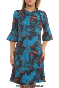 Hängerchen mit Herbst Print Aretha Blau