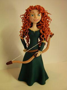 """Studio """"FONDANT DESIGN ANA"""" - Figurice za torte (fondant figures): BRAVE MERIDA (HRABRA MERIDA)"""