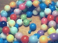 I loved these--pop beads. I thought they were so grownup.I wore white ones in my 4th grade school photo