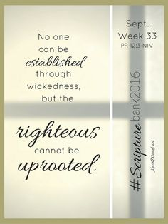 #ScriptureBank2016, Week 33