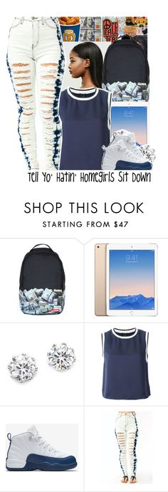 """👇🏽😑✌🏽️"" by loyalnene ❤ liked on Polyvore featuring Sprayground, Kenneth Jay Lane, Theory and NIKE"