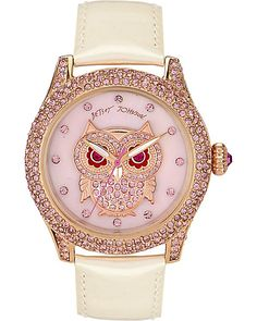 CRYSTAL OWL WATCH WHITE accessories jewelry watches fashion
