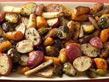 Roasted Potatoes, Carrots, Parsnips and Brussels Sprouts ~ Food Network