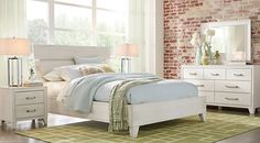 Crestwood Creek Off-White 7 Pc Queen Panel Bedroom from  Furniture