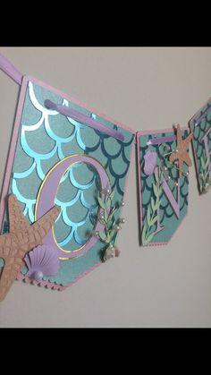 Mermaid highchair banner first birthday banner Mermaid Birthday Decorations, Birthday Highchair, Mermaid Theme Birthday, First Birthday Banners, 1st Birthday Parties, Farm Birthday, Birthday Ideas, Cricut Banner, Diy Banner