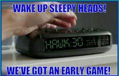 Seahawks Football, Sleepy Head, Digital Alarm Clock