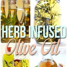 Herb infused olive oil: 1 tablespoon dried herbs (or more!) in a glass bottle, and fill the rest with olive oil. Let stand for at least 1 week and up to 2 months to really let the flavors set in. Flavored Olive Oil, Flavored Oils, Infused Oils, Cooking Tips, Cooking Recipes, Do It Yourself Food, Drying Herbs, Sauces, Food Gifts