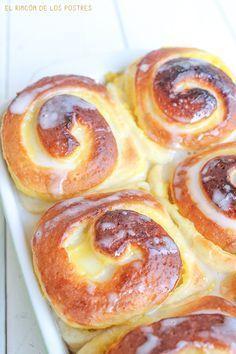 El rincón de los postres: Rollitos de crema #recetas #dulces #bollos …