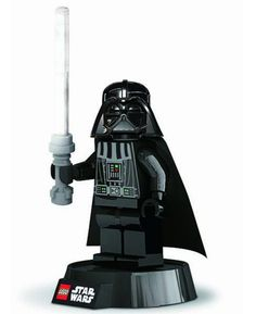 This awesome Lego Star Wars Darth Vader LED Desk Lamp is perfect for fans young and old! Darth Vader's lightsaber has 12 LED lights that illuminate to create a fantastic lamp for your desk, work area or bedside table. Darth Vader has posable arms and legs to show off his lightsaber skills and can be removed from his base for portable lighting.