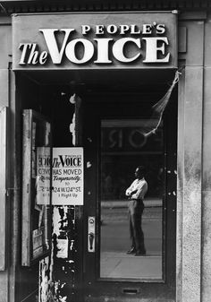 The People's Voice, 125thStreet, 1946  Todd Webb Archive