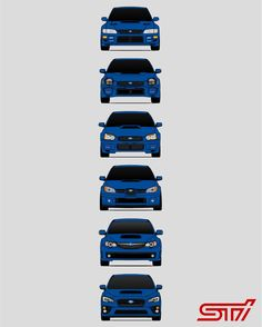 Subaru WRX STi Poster Print Wall Art of the History and Evolution of the Subie STI Generations Rally Car Subaru Rally, Subaru Cars, Rally Car, Jdm Cars, Wrx Wagon, Subaru Impreza Sti, Jdm Wallpaper, Japanese Domestic Market, Car Wallpapers