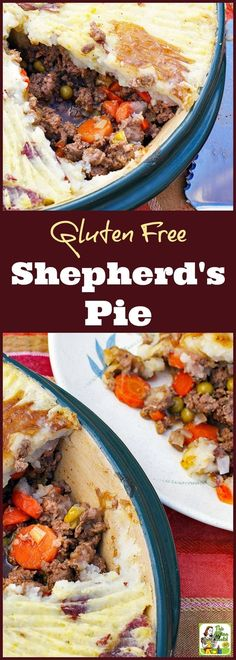 Looking for a basic sherpherd's pie recipe that's gluten free? Click to get this Gluten Free Sherphed's Pie recipe. Can be made with store bought gluten free gravy mix or use this recipe to make homemade gluten free gravy from scratch.