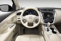 Amzing interior shot of the 2015 Nissan Murano, reminds me of Toyota with its spaceship like inside.