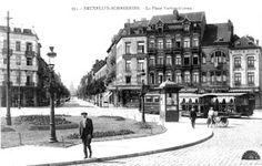 La Belgique des Quatre Vents: LA BELGIQUE D'ANTAN Schaerbeek - Photos entre 1890 et 1935 Sainte Marie, Old City, Vintage Postcards, British, Street View, Architecture, Photos, Brussels, Ruins