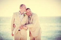 Douglas and Daniel's beachside wedding in Aruba @Jessica Massoth Bride