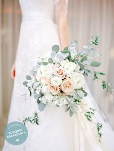 White blush gray wedding bouquet. @fleursdefrance Meadowood Wedding @meadowoodnapa Photo - www.cocotran.com Fleurs de France - Sonoma, Napa Valley, Calistoga, Healdsburg, St Helena, Wine Country, Wedding Flowers, Wedding Florist & Event Designer. www.fleursfrance.com