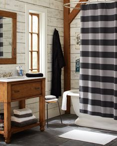 bathroom - love this look! Sort of rustic nautical.....for aiden bathroom when we finish the basement