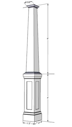Tapered craftsman columns these are pvc but can be made Craftsman tapered columns