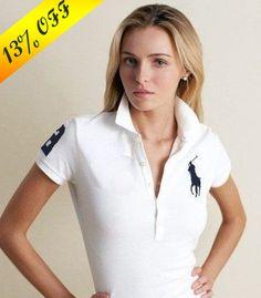 7761a66f1346b maglie ralph lauren donna in bianco big pony
