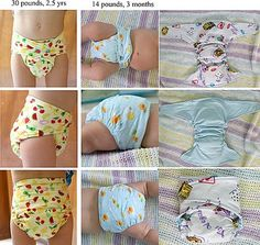 Could use flannel sheets from thrift store & custom pocket liners from old towels. Has diaper pattern, toddler training pants& diaper cover pattern. Diaper Cover Pattern, Cloth Diaper Pattern, Baby Outfits, Sewing For Kids, Baby Sewing, Diy Diapers, Prefold Diapers, Diy Bebe, Cloth Nappies