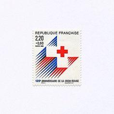 125 Anniversaire de la Croix Rouge. France, 1988. Design: Maurice Gouju + Raymond Coatantiec. #mnh #graphilately   by BlairThomson