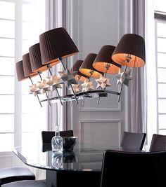 Lustre DEL 13 5 watts suspension lustre lampe chrome verre éclairage