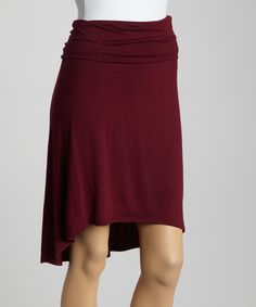 Wine Hi-Low Skirt | Daily deals for moms, babies and kids