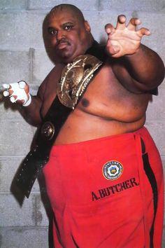 Larry Shreeves as Abdullah the Butcher Awa Wrestling, Wrestling Posters, Wrestling Superstars, Wrestling Divas, Harley Race, Japanese Wrestling, Wwe Tna, Wwe Wrestlers, Professional Wrestling