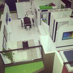 Maqueta. Architecture models. Furniture. Apartamento pequeño. maquetasquevedo@yahoo.com