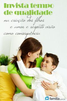 Os filhos precisam sentir e perceber que dentro do lar o pai não é maior do que a mãe e nem a mãe maior que o pai, é preciso existir colaboração mútua na educação dos filhos.