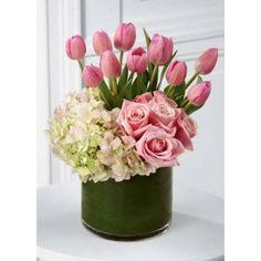 JARRONES DE flores VARIADAS CON TULIPANES - Buscar con Google