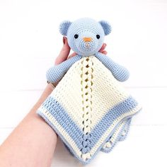 Best 12 Baby Bear Lovey Pattern Security Blanket Crochet Baby Lovey – Page 501729214737161022 Crochet Security Blanket, Crochet Lovey, Baby Girl Crochet, Newborn Crochet, Baby Blanket Crochet, Crochet Dolls, Crochet Animal Patterns, Stuffed Animal Patterns, Amigurumi Patterns