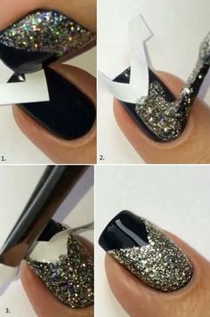 How To Do Nail Art At Home? – Guadalupe Cruz How To Do Nail Art At Home? Every girl likes apply different nail art designs to their nails. Here is a step by step tutorial on how to apply nail art design at home along with videos. Chic Nail Art, Chic Nails, Nail Art Diy, Easy Nail Art, Trendy Nails, Easy Art, New Nail Art, New Year's Nails, Fun Nails