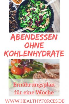 Abendessen ohne Kohlenhydrate: Ernährungsplan für eine Woche You want to eat at night and still lose weight in the long term? Dinner without carbohydrates could become your secret of success. Here is the free meal plan for a week! Detox Recipes, Smoothie Recipes, Healthy Recipes, Nutrition Plans, Diet And Nutrition, Eating At Night, Free Meal Plans, Fat Burning Drinks, Food Videos